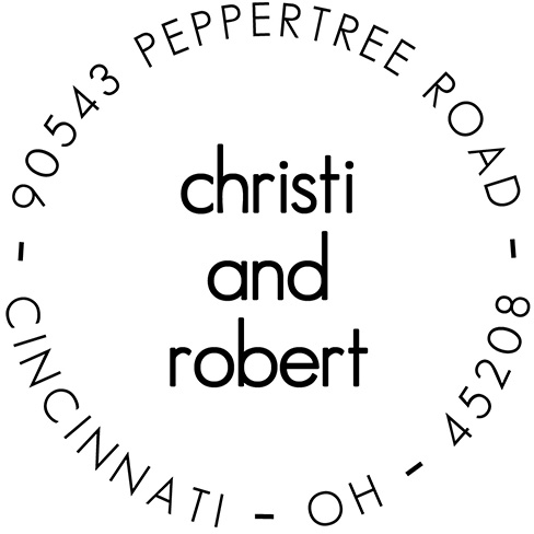 Christi Personalized Address Stamp by PSA Essentials