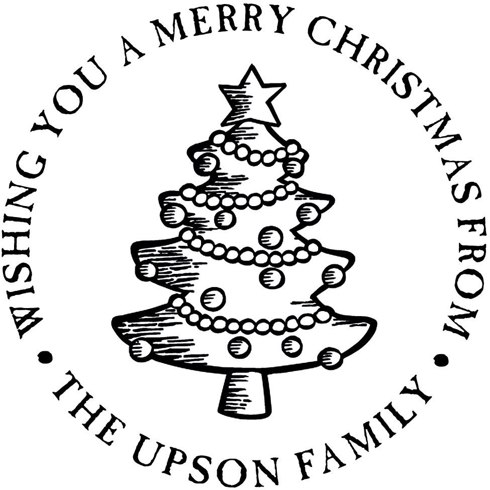 Christmas Tree Stamp by PSA Essentials