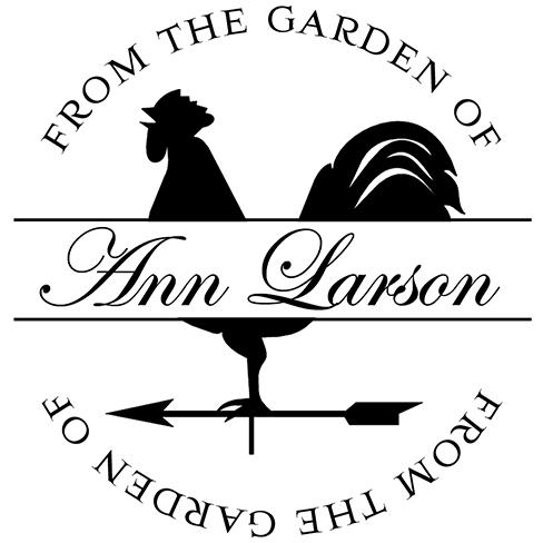 Garden Rooster Stamp or Embosser