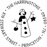 Earmuffs Snowman Stamp by PSA Essentials