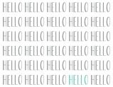 Hello Notecards, set of 10, by PSA Essentials