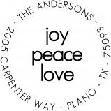Joy, Peace and Love Stamp by PSA Essentials