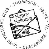 Christmas Letter Stamp by PSA Essentials
