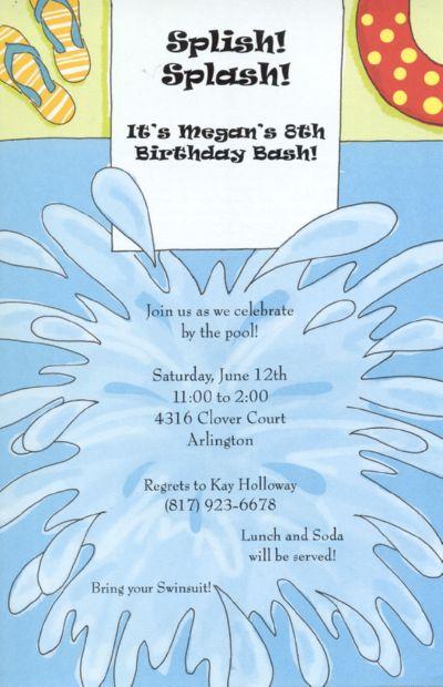Splash! Card