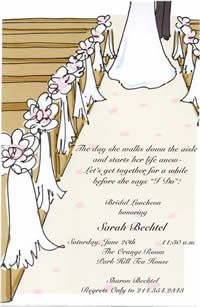 Down the Aisle Card