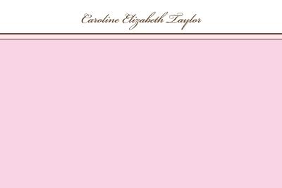 Pink Border Notecard