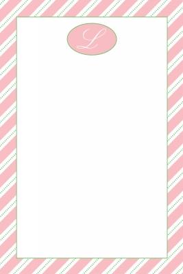 Pink & Green Stripes Notecard