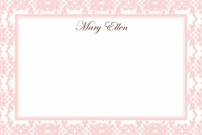 Pink Toile Notecard
