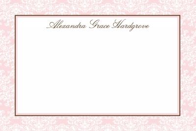 Pink Elegance Notecard