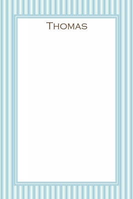 Blue Stripes Notecard