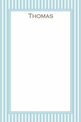 Blue Stripes Notecard