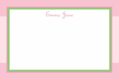 Pink & Green Square Notecard