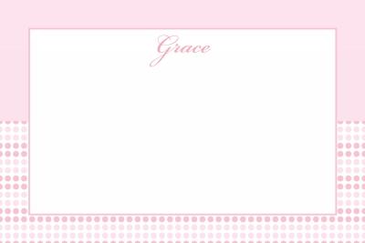Pink Dots Notecard