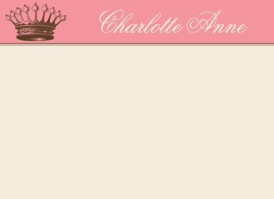 Princess Crown Note Card