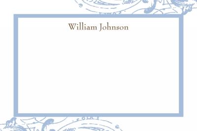 cavender blue Notecard