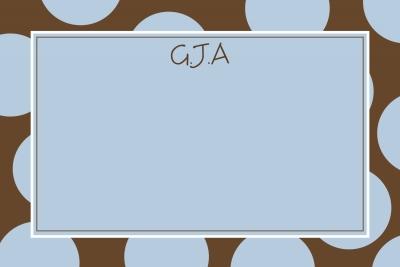 brown & blue dots Notecard