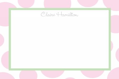 pink bubbles Notecard