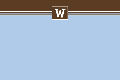 simple blue & brown Notecard