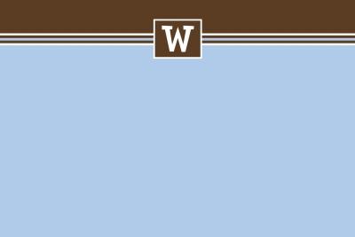 simple blue & brown Notecard