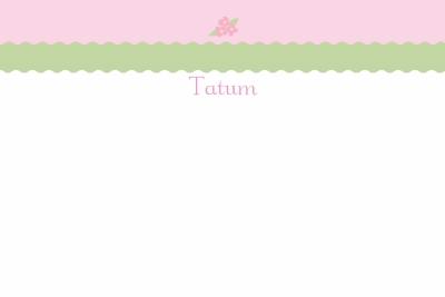 petite flower Notecard