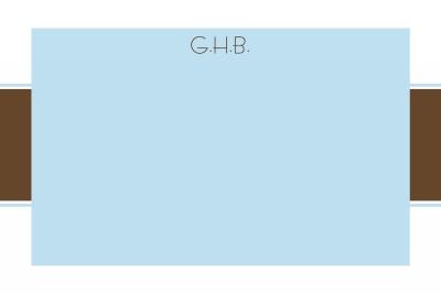 brown & blue belt Notecard