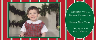 Red/White Stripes w/ Green Oval  by Putnam House - Discounted