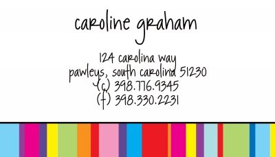 Colorful Stripes Calling Card