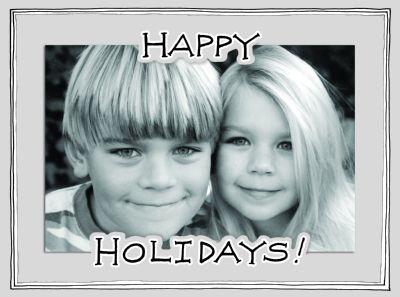 Happy Holidays Diecut