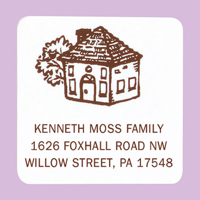Home Address Labels - Square