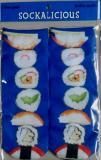 Sushi style ankle socks  sockalicious